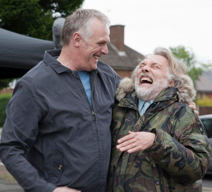 Greg Davies and Rik Mayall