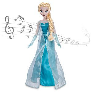 Disney Elsa Singing Doll - Frozen   Disney StoreElsa Singing Doll - Frozen - Elsa will light up the room with a song and her cool blue glow when you activate her motion-detection. Clad in her signature shimmering gown, the snow queen brings Let it Go to life each time you command a performance.
