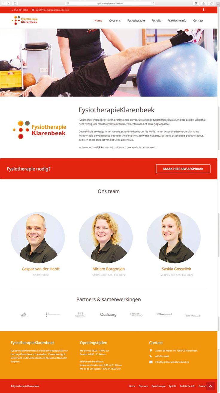 FysiotherapieKlarenbeek heeft dankzij Logisch! een frisse, responsive website.
