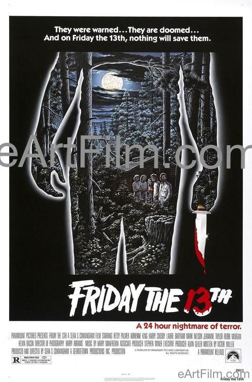 Happy Birthday #KevinBacon https://eartfilm.com/products/friday-the-13th-one-sheet #actors #acting #Footloose #Fridaythe13th #WildThings #Apollo13 #MysticRiver #SixDegrees #movie #movies #poster #posters #film #cinema #movieposter #movieposters    Friday the 13th 1980 27x41 Original U.S One Sheet Movie Poster