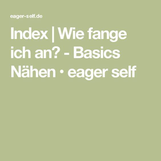 Index Nahen Lernen Lernen Selber Machen