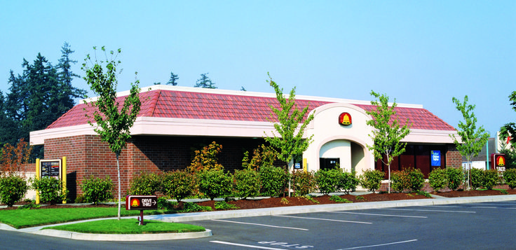 Taco Bell Project With Boral Concrete Villa Roof Tile