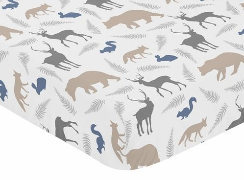 Fitted Crib Sheet For Woodland Animals Baby Toddler