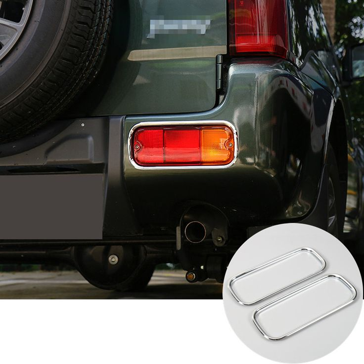 ABS Chrome Car Rear Bumper Fog Light Trim Cover For Suzuki Jimny 2007-2015 2pcs #Affiliate