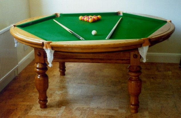 10 weirdshaped pool tables  Hexagons, Tables and Pools -> Table Billard Fabrication Ikea