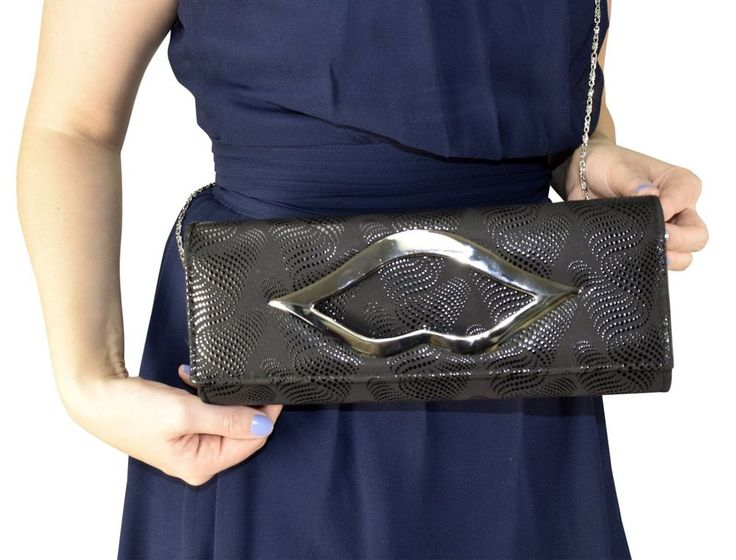 Peach Couture Cross Body Exquisite Matte Bi Fold Evening Clutch Wallet Ebony New | Clothing, Shoes & Accessories, Women's Handbags & Bags, Handbags & Purses | eBay!