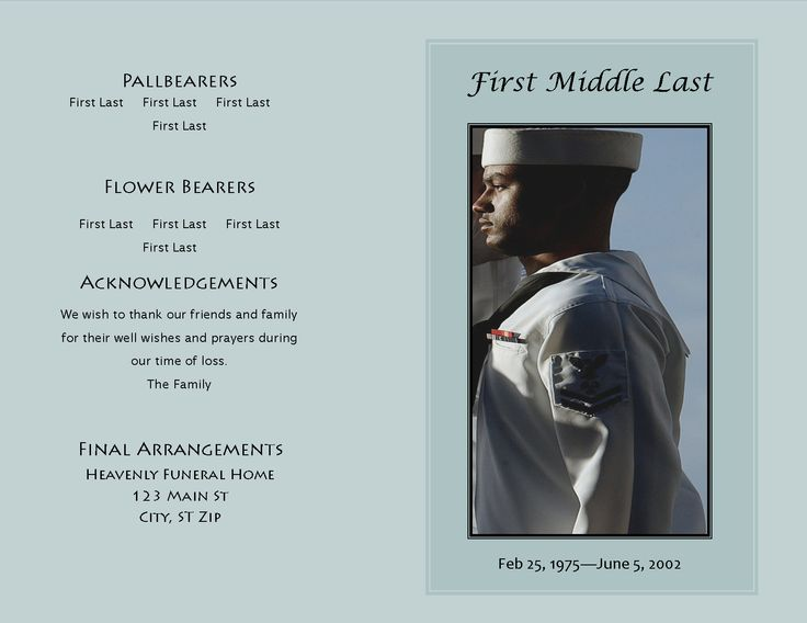 A Sample Funeral Program Template From The Honored Life Collection   Funeral  Program Format Template