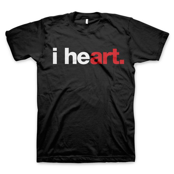 "The new ""i heart art"" t-shirt. Express your love for art, in a little more of an artsy way."