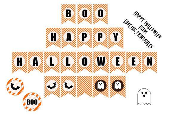 Halloween Printable Decorations by LoveINKprintables on Etsy