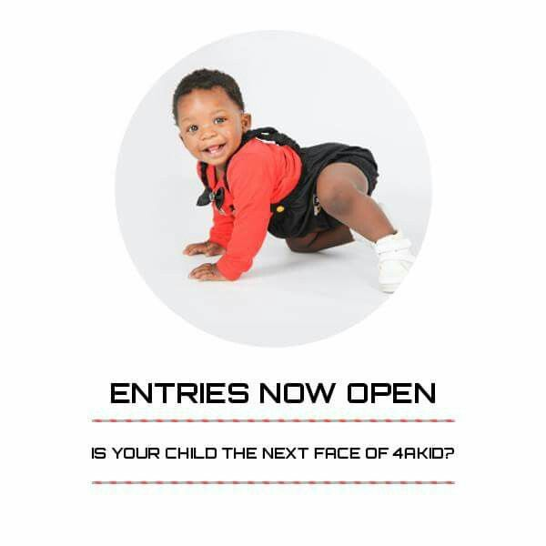 August 2017 entries for Face of 4 A Kid now open. Ages 0-8 yrs. Email ONE recent picture to win@4akid.co.za with the child's name, age and parent's contact details. #BestBabyCompetition #BestKidsCompetiton