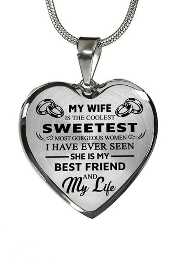 Beautiful To My Wife Necklace From Husband Best Gift For Birthday Graduation Military Wedding Wif Beautiful Wife Quotes Surprise Gift For Wife Wife Quotes