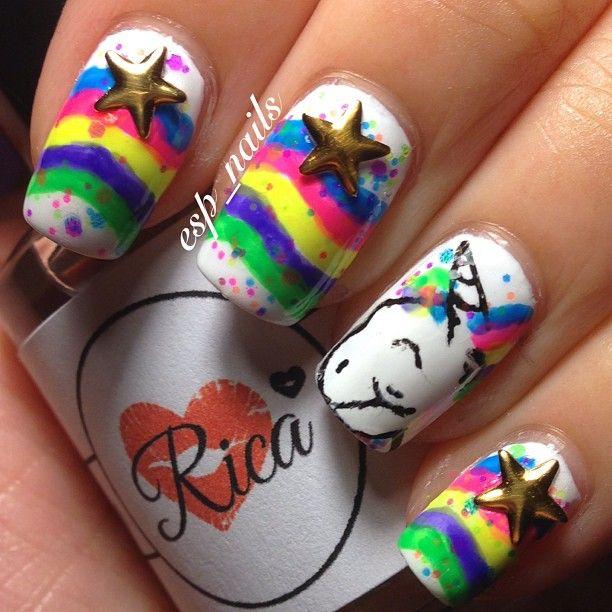 despicable me unicorn nails - photo #11