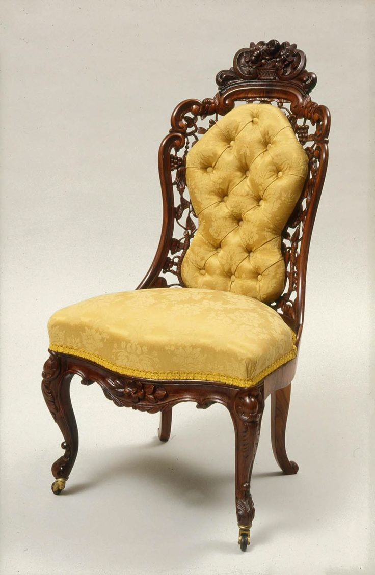 This israel sack american federal mahogany antique lolling arm chair - 1860 American New York Side Chair At The Museum Of Fine Art Boston According To The Curators This Chair Was Made In What S Called The Belter Type