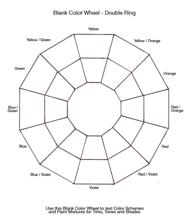 colour theory wheel template color theory in 2018 pinterest