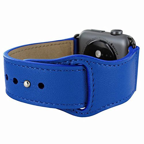 Piel Frama Armband Case for Apple Watch 42 mm - Blue. Fits wrists between 15-20cm in diameter. Introducing the Piel Frama Apple Watch leather wrist strap. This beautiful high quality leather strap will add style and elegance to your new Apple Watch.