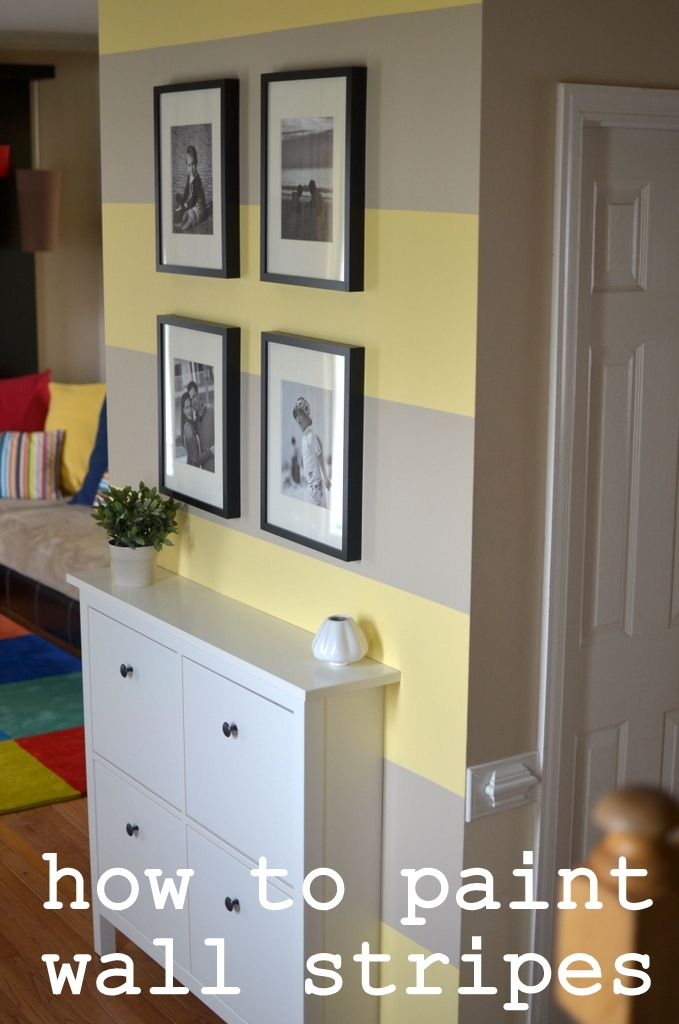 Entry Way Update { How to paint wall stripes }