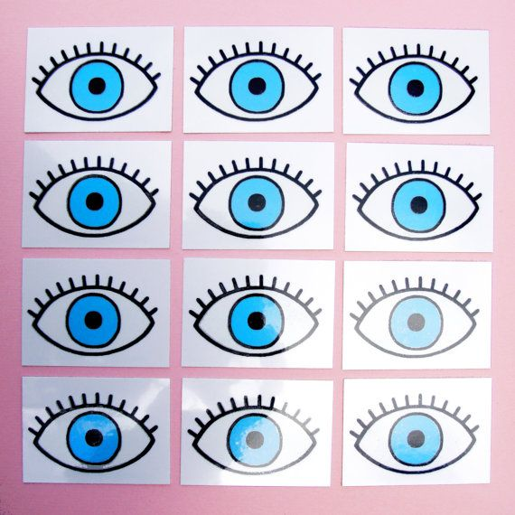 2 EYE TEMPORARY TATTOO Eyeball Temporary Tattoo by CoucouSuzette