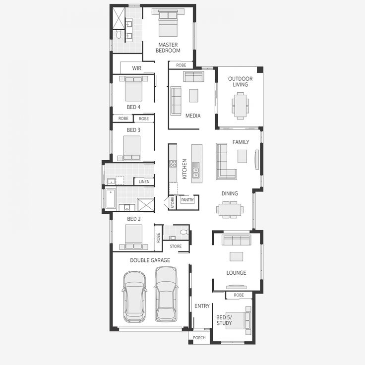 It's a great floor plan and nice to have all the living on one level… But to adapt for the Pacific Northwest this would require a higher peaked roof to handle the snow load and the addition of a basement to allow cool refuge in the summer.