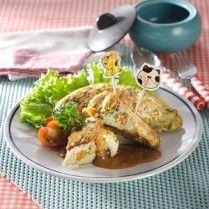 omelet sayur saus pecel