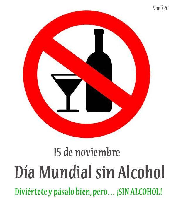 Día Mundial sin Alcohol. Un día para abstenerse del consumo de bebidas alcohólicas.