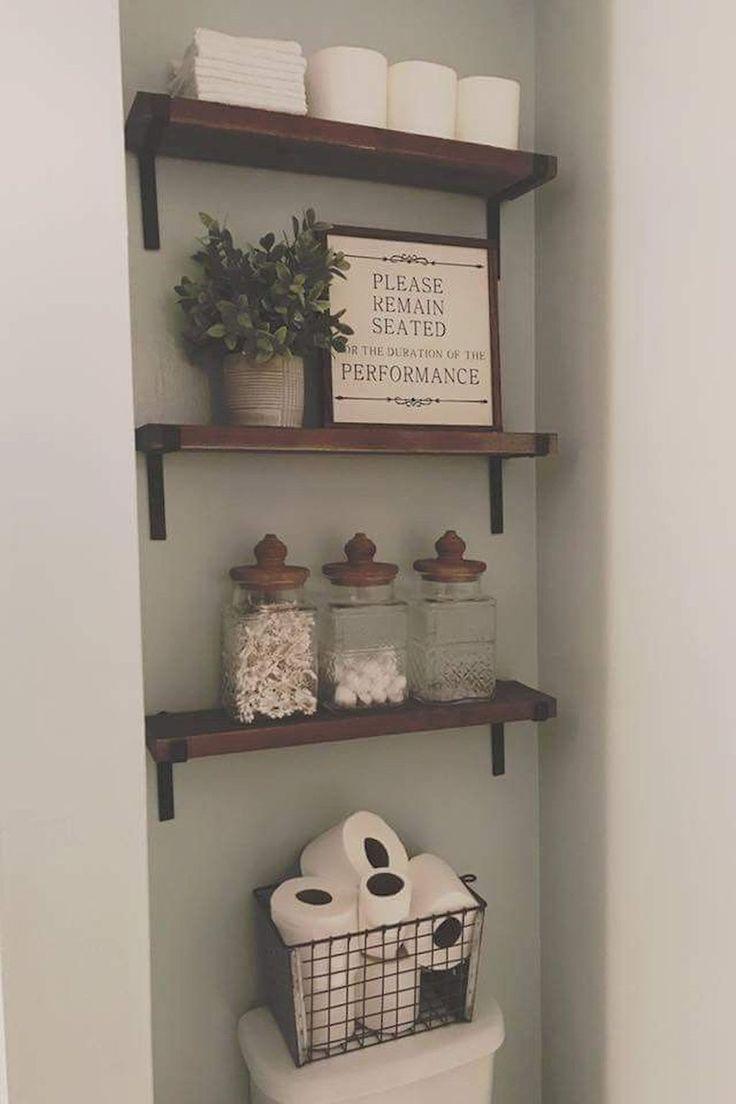 85 Diy Farmhouse Bathroom Storage Ideas Bathroomrenovations Bathroomtileidea Small Bathroom Decor Farmhouse Bathroom Decor Decor