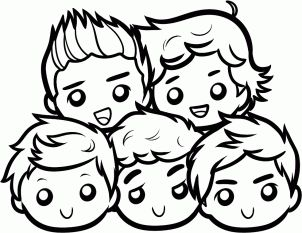 how to draw chibi one direction