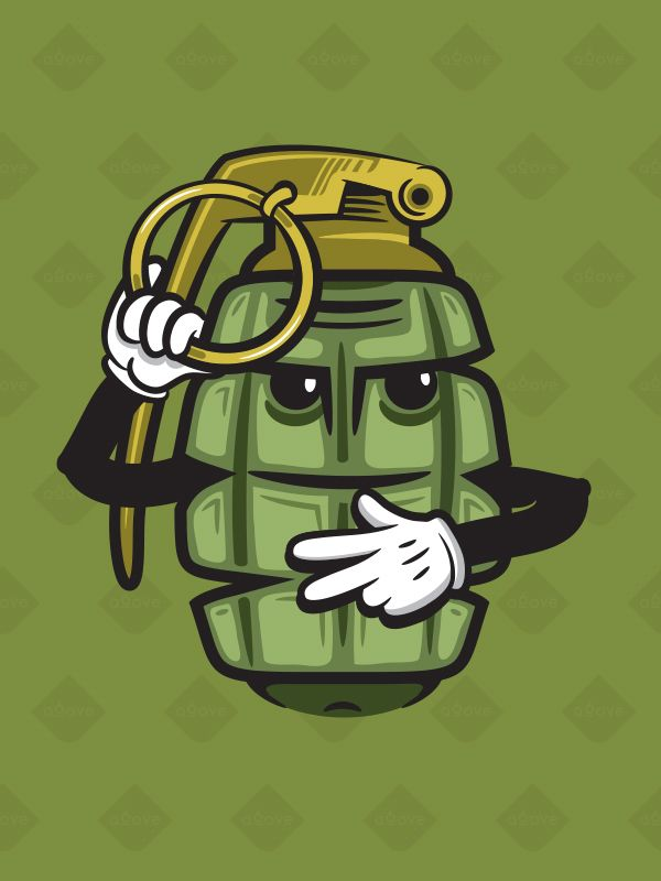 Grenade Stickers by SixAbove Studios