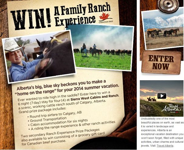 Enter for your chance to WIN a Family Ranch Experience from Canada Beef and Travel Alberta