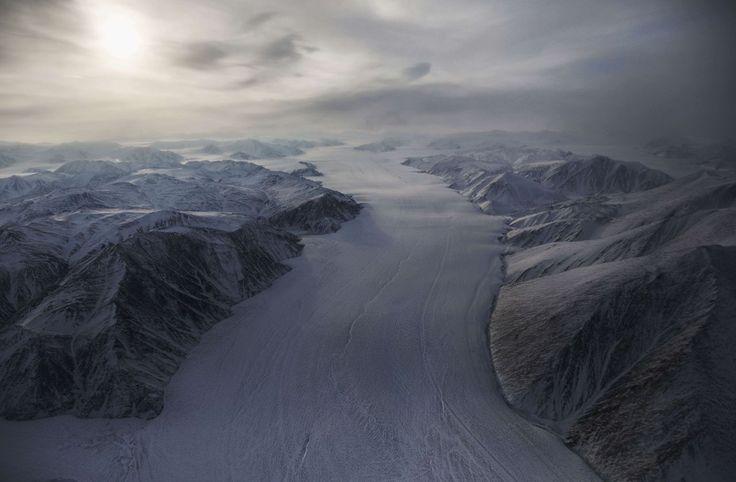 Gletsjer op Ellesmere Island, Canada