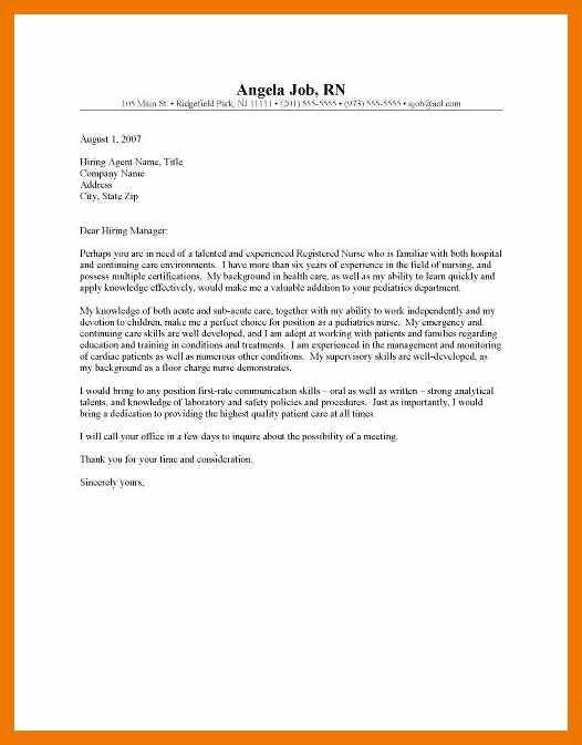 New Grad Nurse Cover Letter Example Cover Letter Recent Graduate Cover Letter For Resume Nursing Cover Letter Nurse Cover Letter