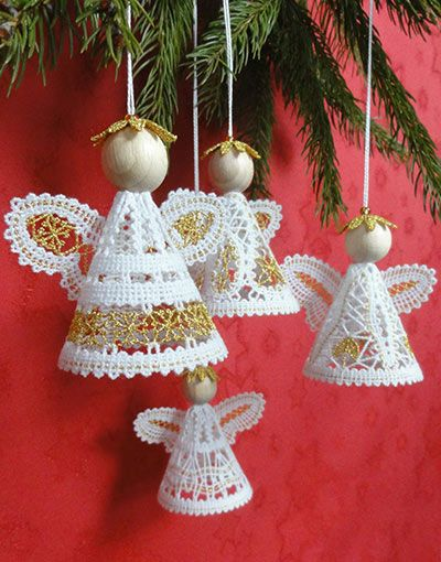 BMS_LACE__3D_A_N_G_E_L__S_E_T__4 BOBBIN LACE, Embroidery, freeby, 3D Angel