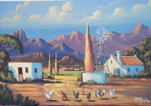 Painting by At Botha