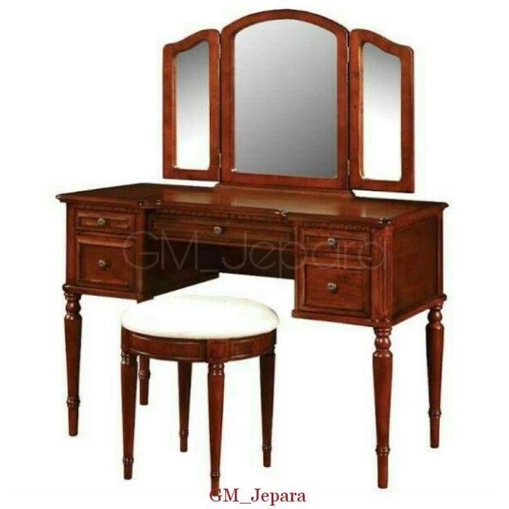 Meja Rias Jati Sayap Minimalis, meja rias jati, meja rias lampu, meja rias modern, meja rias kayu, meja rias hello kitty, meja rias anak