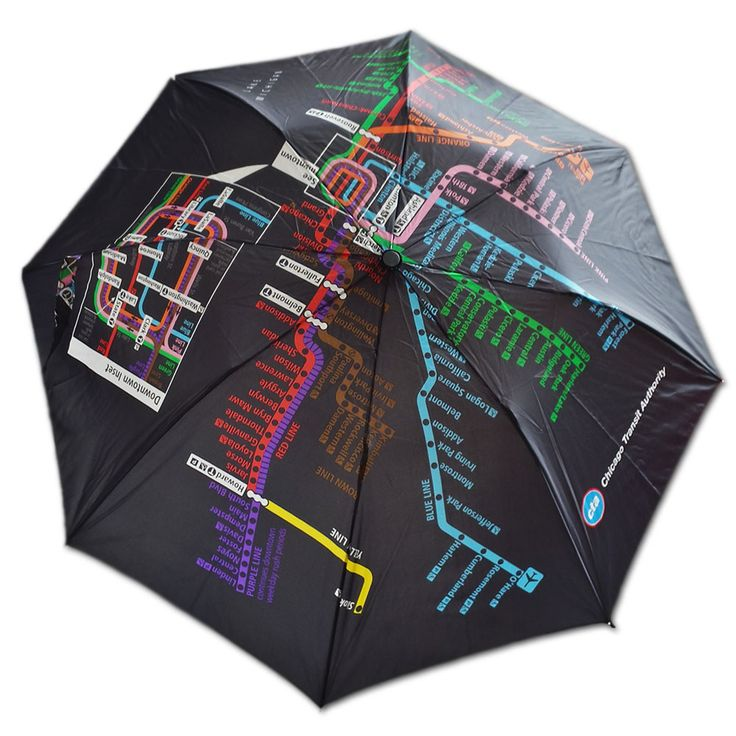 CTA Map Umbrella 78 best Chicago Themed
