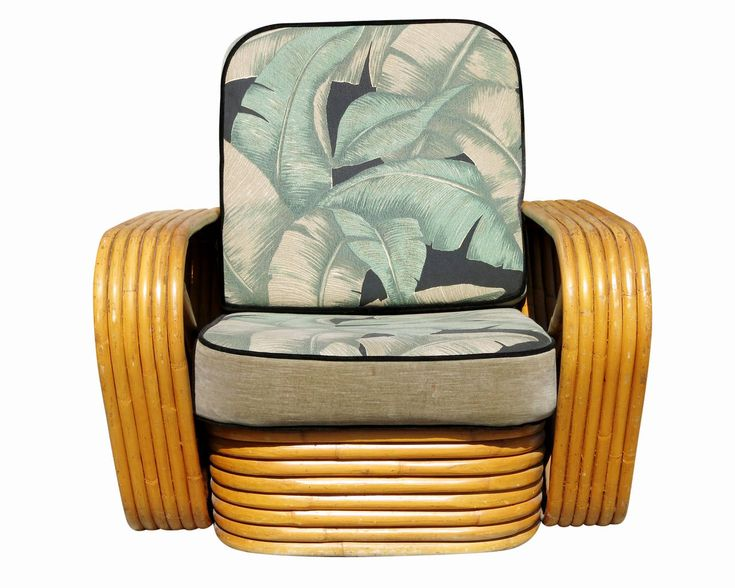Paul Frankl Rattan Lounge Chair