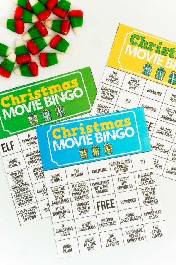 Holiday Movie Christmas Bingo Game Christmas Bingo Christmas