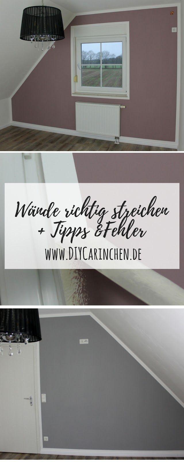 DIY Wände richtig streichen mit Tipps, Tricks & Fehlern, die man ganz leicht vermeiden kann