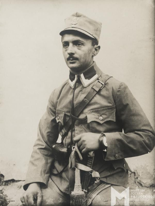 """Portret legionisty w czapce """"kompromisówce"""", 1916-1917"""
