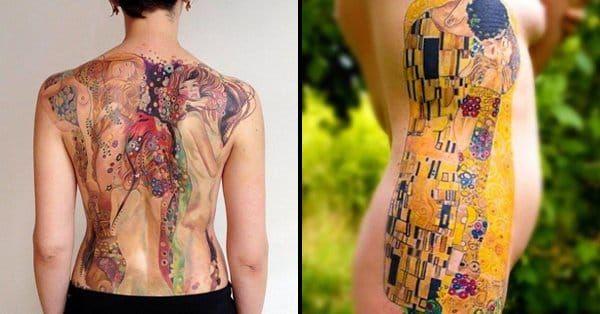 12 Poetic Gustav Klimt Inspired Tattoos