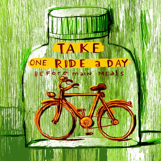 One ride a day, keep the doctor away! #reviveyourspirit