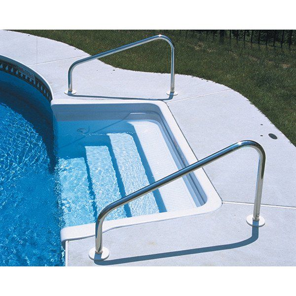 Sr Smith 40 Stainless Steel Deck Mounted Stair Rails 304 Grade 049 Wall Residential 50 766 In 2021 Pool Rails Above Ground Pool Steps Swimming Pool Ladders