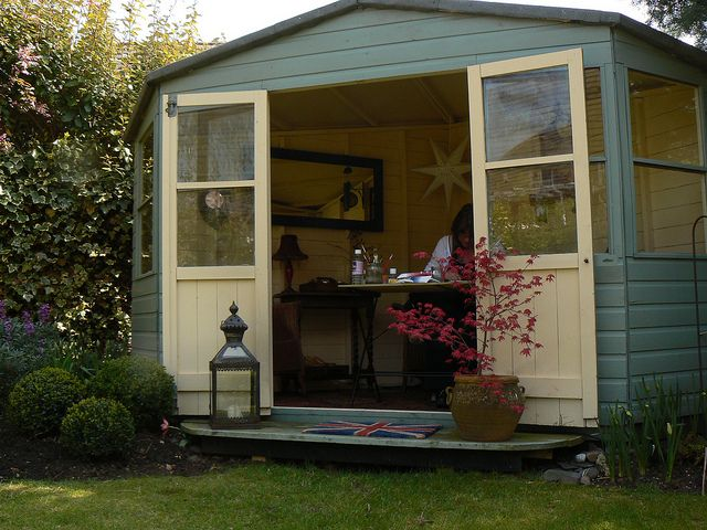 Shed/Garden Studio    Cat Salter Art - I use the 'shed' as an artist studio and paint in it everyday!