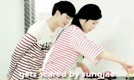 Funny moment in We Got Married Joy & Sungjae
