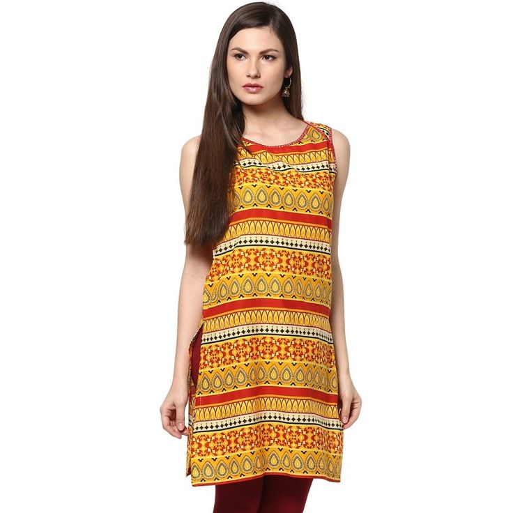 All Over Printed Kurti With Sequins		 http://goo.gl/kdqKCp