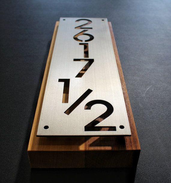 acero inoxidable placa de dirección de números de por Rancidmetals