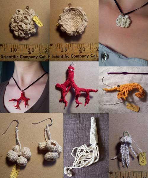 crochet jewellery