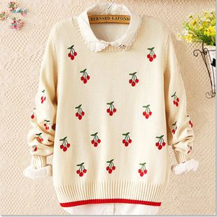 Japanese students sweet knitting sweater