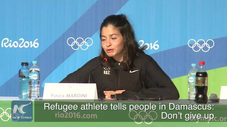 Speaking at a press conference in Rio de Janeiro on Wednesday, just days before the Olympic Games, Yusra Mardini, a swimmer from Syria, told people in Damascus not to give up. Mardini is a member of the Olympic refugee team, the first of its kind in Olympic history. Click this video and get her message.