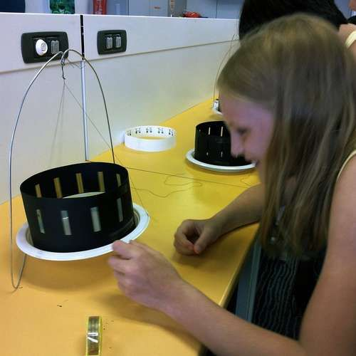 Make a zoetrope or 20...teach kids about basic (oldskool) animation.
