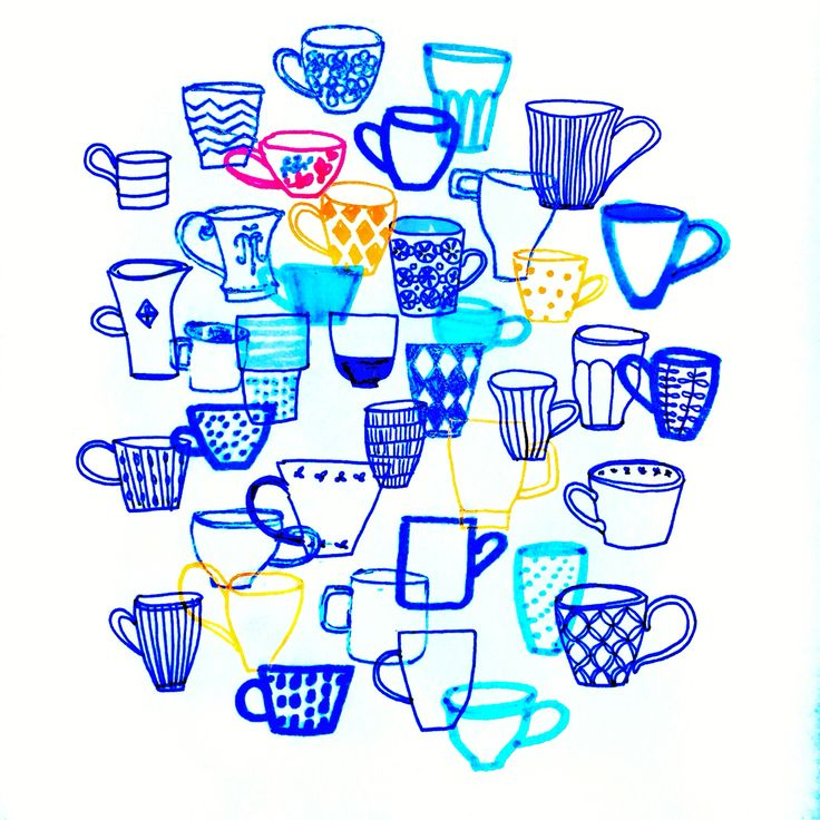 Would you like some more coffee? By Marie Åhfeldt, Mås Illustra. www.masillustra.se #coffee #cup #illustration #masillustra